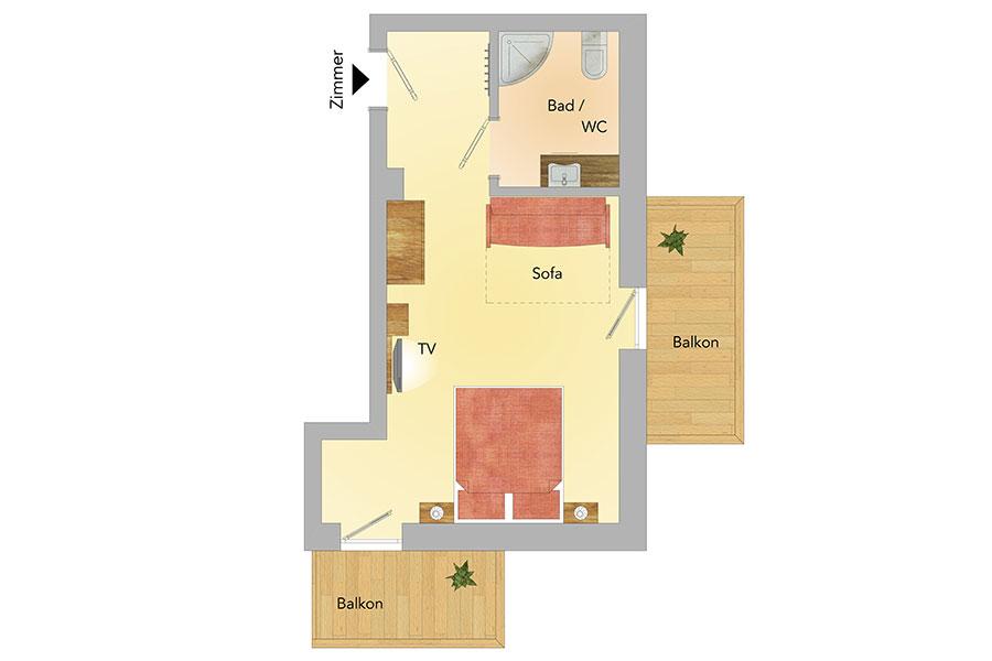 Chalet Selbhorn - Obergeschoss